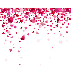 Confetti of hearts vector image