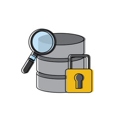 Data base server security magnifier search hosting vector