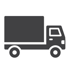 delivery truck glyph icon transport and vehicle vector image vector image