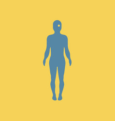 Eye point on human body vector