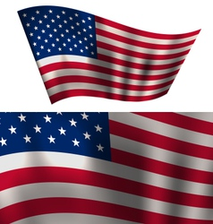 Flags USA Stars and Stripes for Independence Day vector image vector image