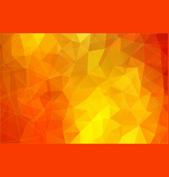 Flat bright yellow abstract triangle shape vector