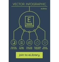 Flat Ebook free download icon vector image