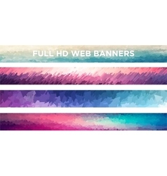 Full HD Web Banners file vector image