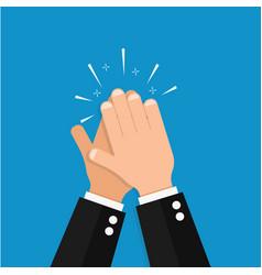 hand clap success vector image