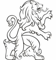 Heraldic lion vector