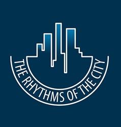Logo rhythms of the city at night vector