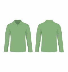 Mens green long sleeve t shirt vector