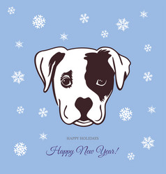 new year dog 2018 vector image vector image