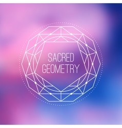 Sacred geometry sign flower of life symbol vector