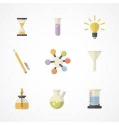 Science and research icons Flat designPart II vector image vector image