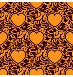 Seamless texture with heart vector image vector image