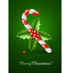 sweet christmas caramel cane vector image vector image