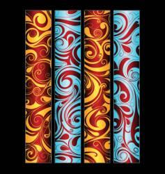 swirls in banner lines vector image vector image