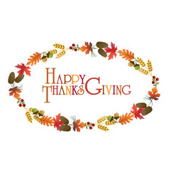 thanksgiving wreath graphic vector image vector image