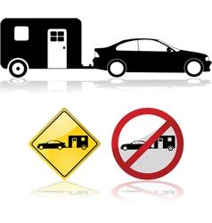 Trailer signs vector