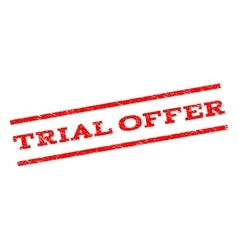 Trial offer watermark stamp vector