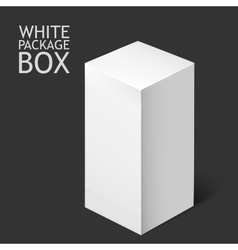 White package box mockup template vector