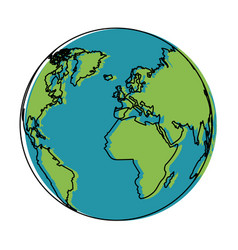 world earth global map continent geography vector image