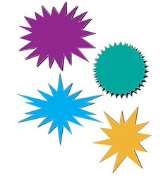 Bursts vector image