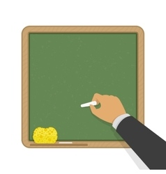 Green blank classic school board vector image