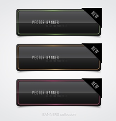 black banners vector image