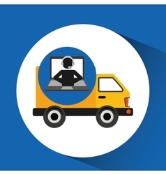 Delivery call centre operator online fast delivery vector
