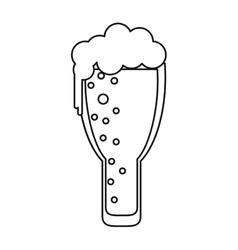 Saint patrick day frosty glass beer celebration vector