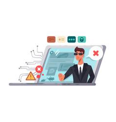 online computer security vector image