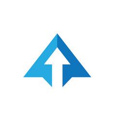Abstract triangle business arrow logo vector