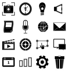 Create application icons on white background vector