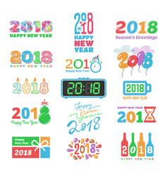 2018 new year calendar christmass logo text vector