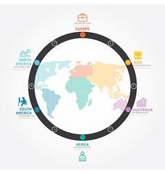 infographics world business concept design diagram vector image