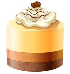 Layer cakes with creame topping vector