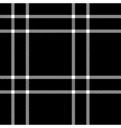 Black and white tartan traditional fabric seamless vector
