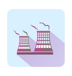 Tower of chemical factory icon flat style vector