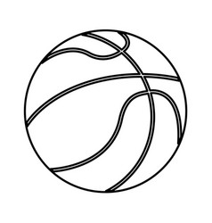 ball basketball sport equipment outline vector image