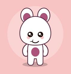 Bear teddy kawaii cartoon happy cute icon vector