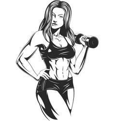 beautiful fitness girl vector image