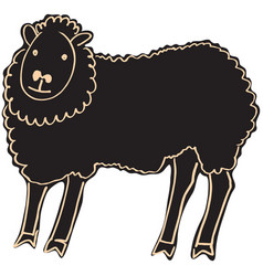 black sheep vector image vector image
