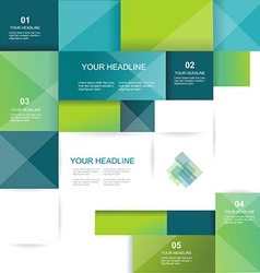 brochure template design with cubes and squares vector image vector image