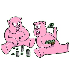 Cartoon Piggy Banks vector image