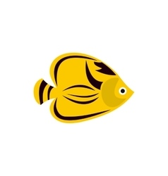 Chaetodon fasciatus icon flat style vector image vector image