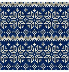 Christmas seamless knitted background vector image vector image
