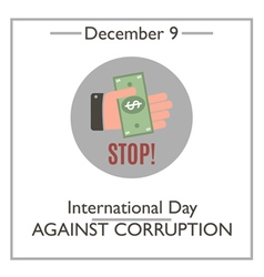 Day against corruption vector