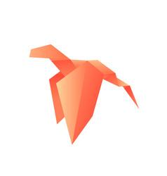 dragon animals origami logo vector image vector image