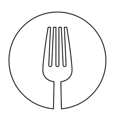 figure fork icon image design vector image