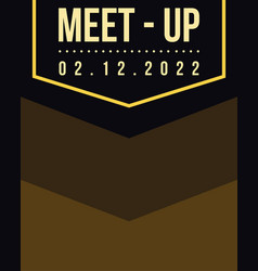 Geometric cover design meet up card brown vector