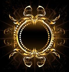 Golden Tribal Frame vector image vector image