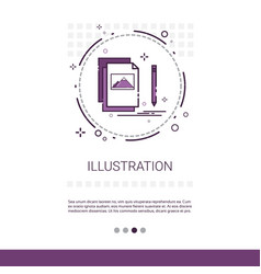 graphic design development computer vector image